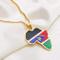 WH MaiYY Repubblica Ciondolo Bandiera del Sud Sudan Collana Gioielli in Argento/Oro Sud Su...