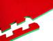 Bruce Lee 14BLSMA013 Tappeto Puzzle per Palestra, Unisex – Adulto, Rosso, Taglia Unica