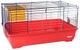 Gabbia per conigli, cave e porcellini Imac Easy 80 - rosso