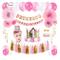 1st Birthday Party Decorations Girl - Primo Decorazione Festa di Compleanno per Bambini Ki...