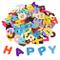 Shappy 1 Pollice Adesivi Feltro Alfabeto Autoadesive Lettere Sticker per Mestiere di Ornam...