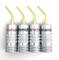 Hksman - 4 connettori a banana in puro rame placcato da 2 mm, qualità del suono senza perd...