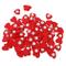 100pz Legno Cuore Rosso con Nastro per La Decorazione Fai da Te