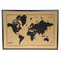 Milimetrado - Mappa del mondo bacheca in sughero/Mappa del mondo Poster in sughero con cor...