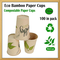 Bicchieri in carta di bambù da 100 pezzi, tazzine da caffè espresso lunghe, bicchieri bio...