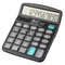 HIHUHEN Calcolatrice da tavolo a 12 cifre Calcolatrice solare a pulsanti grandi per la scu...