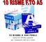 10 Risme CARTA A5 80gr 500 Fogli Carta Bianca Fotocopie Stampante 14,8x21cm RICETTE - 5000...