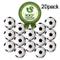 Wanxida 20 Pezzi Palline da Biliardino, 32 mm Calcio Balilla Stile Calcio Classico Bianco...