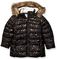Spotted Zebra Long Puffer Coat Infant-And-Toddler-Down-Alternative-Outerwear-Coats, Black...