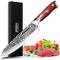 IPBEN Coltello da cucina giapponese professionale da 8 pollici coltello da chef con Acciai...