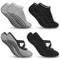 Zacro Calze da Yoga Antiscivolo Yoga Socks (4 Pairs) Fitness, Pilates, Barre, Danza, All...
