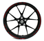 Adesivi per cerchioni Race Design 12 pezzi, set completo Finest Folia adatto per 17 pollic...