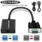 Lemorele Adattatore VGA a HDMI 1080P 60Hz Convertitore da VGA da Maschio a HDMI Femmina co...