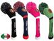 FINGER TEN Knit Golf Headcover Set Legno di Driver Fairway Hybrid 1 3 5,e Ibrida Collo Lu...