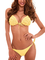 RELLECIGA Set Costume Donna Top Bikini Push up Effetto 3D Fiori Giallo L