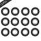 6001-2RS Cuscinetti del Pattino Longboard Rullo Tavole da Skate, 12 Pezzi Cuscinetti A Sfe...