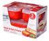 Sistema 2703 Confezione 3 Contenitori Polipropilene Microwave, Rosso