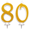 Candeline Maxi 80 Anni per Torta Festa Compleanno 80   DecorazioniCandele Auguri   Idee...
