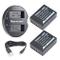 Newmowa NP-W126 2 Batteria e Doppio Caricatore USB per Fujifilm NP-W126 NP-W126S e Fuji Fi...