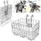 ASPIRER Cestino anteriore per bicicletta – pieghevole e rimovibile in rete metallica a sga...