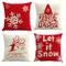 Gspirit Buon Natale 4 Pack Cuscini per divani Decorativo Cotone Biancheria Cuscino copricu...