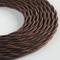 Klartext - Cavo tessile trecciato LUMIÈRE per illuminazione, 3x0,75mm, Marrone, 3mt. Atten...