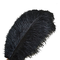 Piume di struzzo Sowder, 10 pezzi, 30-35 cm, decorazioni di nozze o per la casa Black