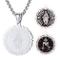 Faithheart miracolosa medaglia rotonda Pedant religiosa accessorio per cristiani (argento/...
