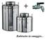 Megashopitalia Contenitore Bidone Fusto per Olio in Acciaio Inox 15 30 50 Litri Made in It...