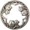 Coperchio per candele in barattolo, accessori per candela metallo (Gufo)