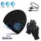 TAGVO Bluetooth V5.0 Beanie con Guanti Touchscreen Set, Inverno Caldo Lavorato a Maglia Se...