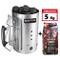 MasterCook - Kit Accenditore Barbecue + Bricchetti 5 kg Omaggio - Impugnatura di Sicurezza...