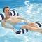 Leilims - Amaca gonfiabile portatile, a righe, in PVC, opaco, per piscina, per adulti e ba...