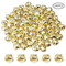 yyuezhi Metallo Campanellini 100 Pezzi Natale Jingle Bells 25mm Piccole Campanelle Charms...