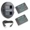 Newmowa LP-E12 Batteria (confezione da 2) e Doppio Caricatore USB per Canon LP-E12 Canon E...