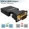 Adattatore da VGA a HDMI, Convertitore VGA HDMI con Audio 1080P,(PC Vecchio Stile a TV/Mon...