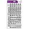 Toga Adesivi Alfabeto, Carta, Nero, 15x 29,5x 0,2cm