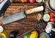 Perkin - Coltello damascato da cucina, 24,13 cm, in acciaio damascato