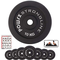 POWRX - Dischi Pesi ghisa 20 kg Set (2 x 10 kg) - per manubri e bilancieri con Braccio da...