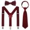 Set di bretelle per bambini con mosche, cravatte, regolabili ed elastiche, set per 6 mesi...