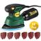 TECCPO Levigatrice Mouse 14000 RPM, 12 Carte Vetrate (6 * 60 Grana, 6 * 120 Grana), Sacche...