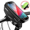 Borse Bici Telaio Impermeabile Borsa Manubrio Bicicletta con Touch Screen, Porta Telefono...
