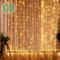 CREASHINE Tenda con Catena di Luci LED, 3 x 3 m, impermeabilità IP44, Stelle LED A Catena...