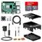NinkBox Raspberry Pi 4 Modello B Starter Kit, RPi Barebone 4GB RAM + MicroSD 64GB, Aliment...