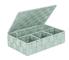 Wenko Adria, cestino da bagno con coperchio, Polipropilene, menta, 26 x 17 x 7,5 cm