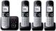 Panasonic KX-TG6824GB - Telefono cordless DECT, schermo da 4,6 cm (1,8 pollici), con segre...