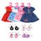 Lance Home 4 Abiti Vestito 4 Paia di Scarpe Grucce per 18 '' Bambole American Girl Accesso...