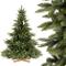 FairyTrees Artificiale Albero di Natale Abete NORDMANN Premium, Mix di Materiali tra press...