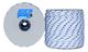 Corda Antica Corderia Marra - Treccia Nautica mm 10, 20 m, bianca con segnalino azzurro