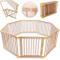 KIDUKU® XXL Box per Bambini Barriera di sicurezza di 7,2 metri, pieghevole e porta inclusa...